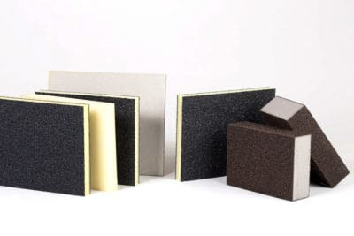 Abrasive sponges for sanding and grinding