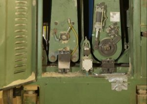 dust inside wide belt sander